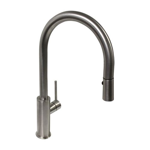 Lugano Pull-Down Single-Handle Kitchen Faucet in Natural Stainless