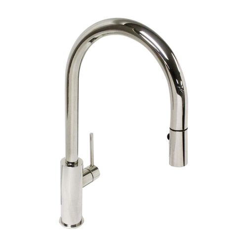 Lugano Pull-Down Single-Handle Kitchen Faucet in Polished Stainless