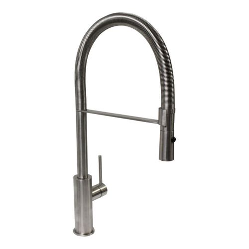 Raffaello Pull-Down Single-Handle Pre-Rinse Kitchen Faucet in Natural Stainless