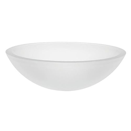 Decolav Anani Tempered Glass Vessel Bathroom Sink in Frosted Crystal