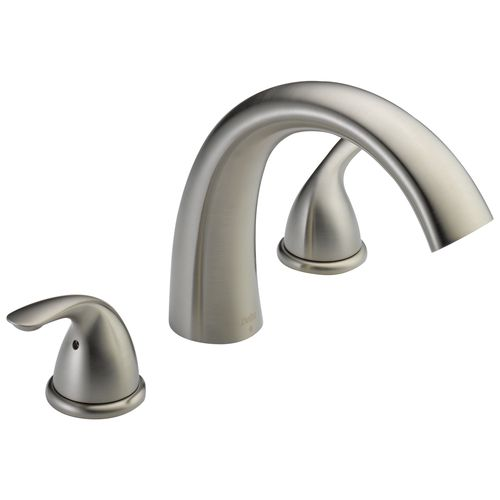 Classic Two-Handle Roman Tub Faucet in Stainless