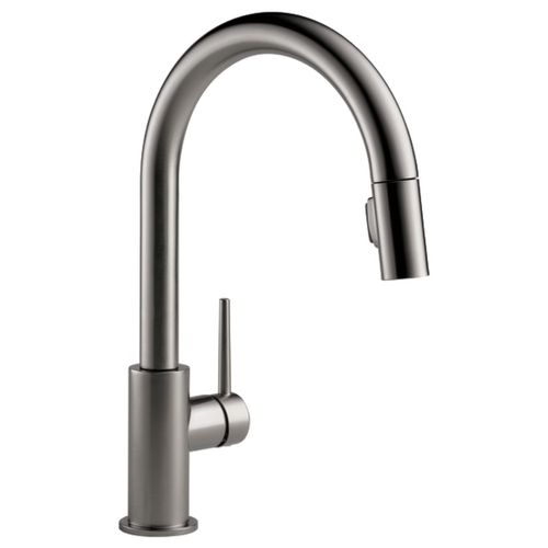 Trinsic Pull-Down Single-Handle Kitchen Faucet in Black Stainless