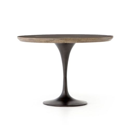 """Powell Dining Table in Bright Brass Clad (42"""" x 42"""" x 30"""")"""