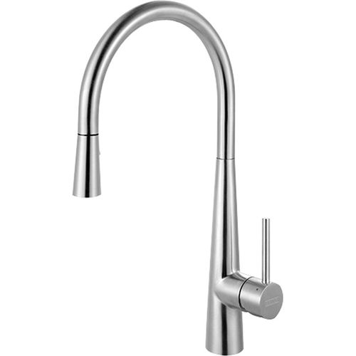 """Pull-Down Kitchen Faucet in Stainless Steel - 17.56"""""""
