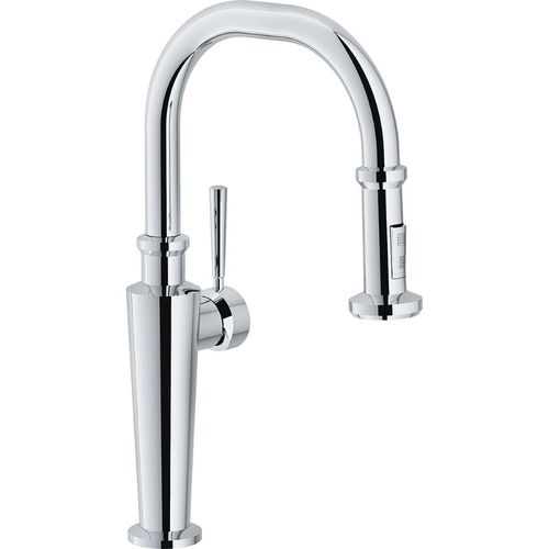Absinthe Deck-Mounted Pull-Down Kitchen Faucet in Polished Chrome