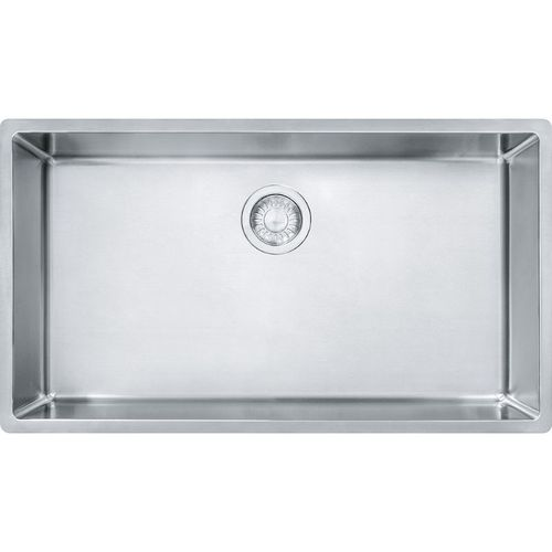 Cube 17.75'' Stainless Steel Single Basin Kitchen Sink with 36'' Minimum Cabinet Length