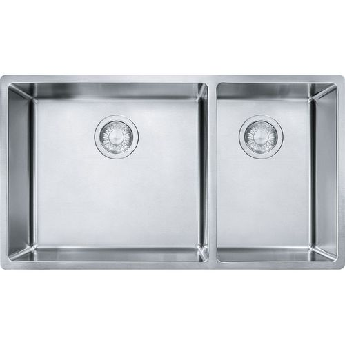 """Cube 17.75'' x 18.13"""" Stainless Steel Double Basin Kitchen Sink"""