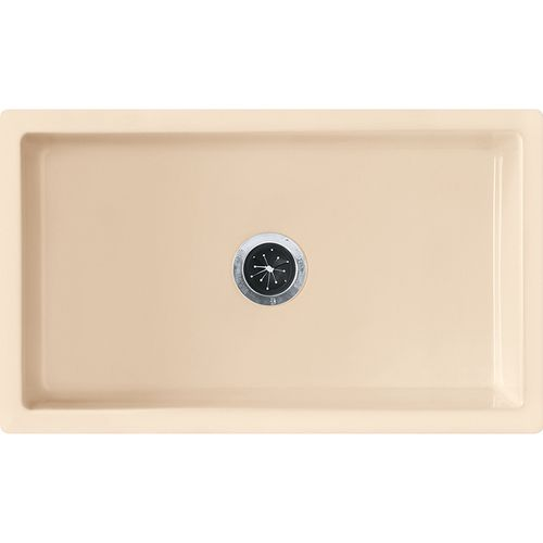 """Farmhouse 30"""" Fireclay Single Basin Undermount Apron Front Kitchen Sink in Biscuit"""
