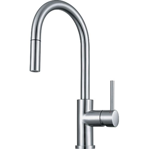 franke pull down kitchen faucet in polished chrome