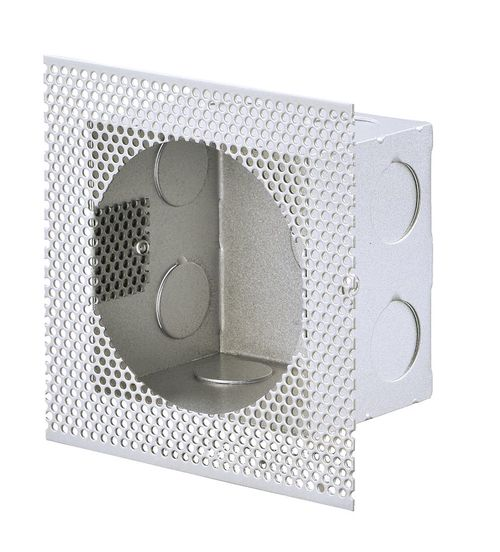 """Alumilux Pathway 4"""" x 4"""" Rough In Box Wall Light Accessory in Satin Aluminum"""