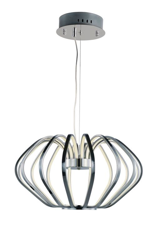 """Argent 27.5"""" x 15.5"""" Single Pendant with 18 Lights - Polished Chrome"""