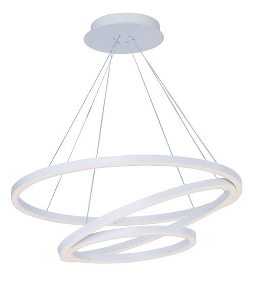"""Cirque 8"""" Entry Foyer Chandelier with 3 Lights - Matte White"""