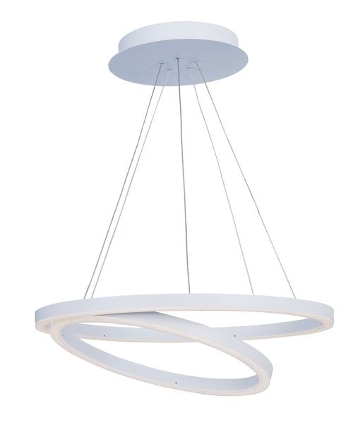 """Cirque 23.75"""" Wide 2 Light Single Pendant using PCB Integrated LED Bulbs in Matte White"""