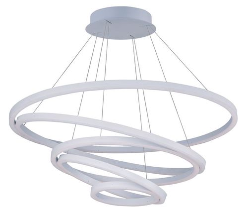 """Cirque 15"""" Entry Foyer Chandelier with 5 Lights - Matte White"""