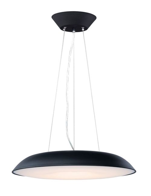 """Dimple 23.5"""" Wide 1 Light Single Pendant using PCB Integrated LED Bulbs in Black"""