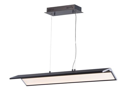 """Glider 10.25"""" x 3"""" Black / Polished Chrome Multi-Light Pendant with 1 Light with 2520 Lumens (Steel material)"""