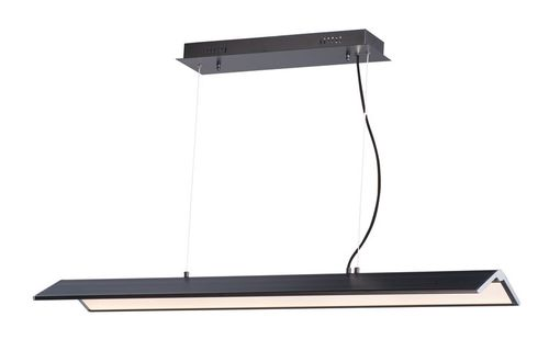 """Glider 10.25"""" x 3"""" Black / Polished Chrome Multi-Light Pendant with 1 Light with 3360 Lumens (Steel material)"""
