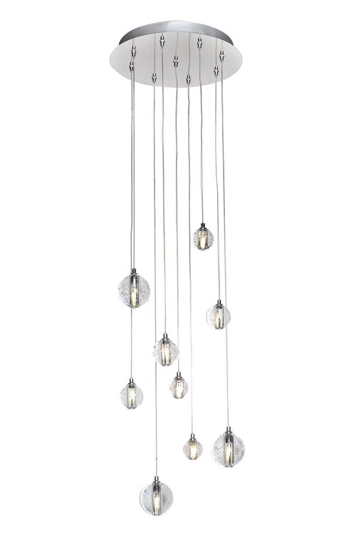 """Harmony 3.75"""" Multi-Light Pendant with 9 Lights with bulbs included - Polished Chrome"""