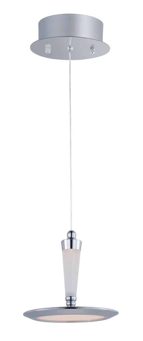 """Hilite 7"""" Wide 1 Light Single Pendant using PCB Integrated LED Bulbs in Polished Chrome"""