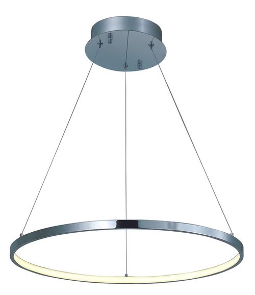 """Hoops 23.5"""" x 1.25"""" Polished Chrome Single Pendant with 1 Light with 932 Lumens (Aluminum material)"""