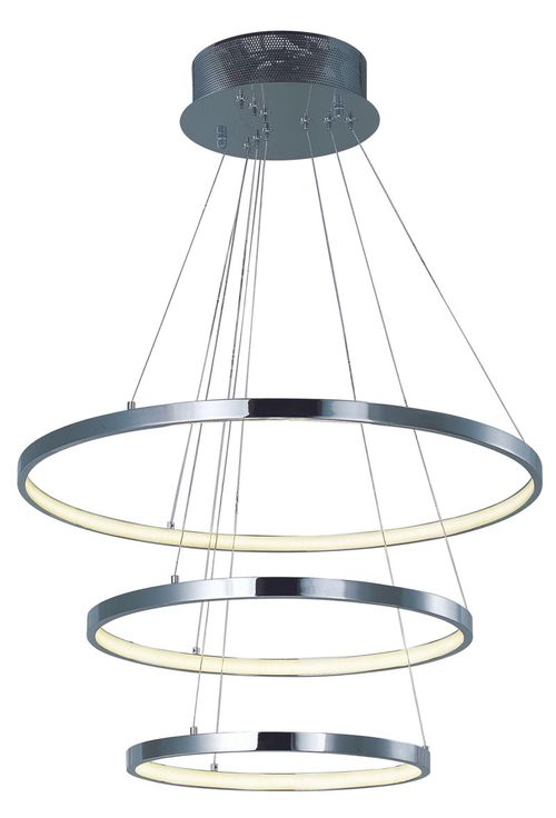 """Hoops 23.5"""" x 1.25"""" Polished Chrome Single Pendant with 1 Light with 2142 Lumens (Aluminum material)"""