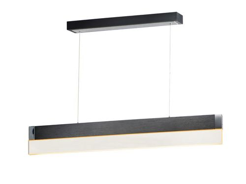 """iBar 4.75"""" x 6"""" Brushed Black Friends of Hue with 1 Light with 2100 Lumens (Aluminum material)"""