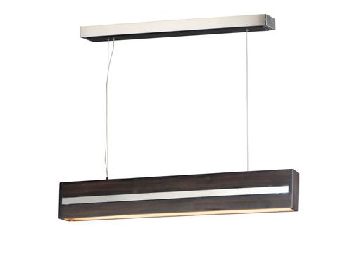 """iWood 3.5"""" x 5.5"""" x 40.25"""" Wenge / Polished Chrome Friends of Hue with 1 Light - (Stainless Steel material)"""