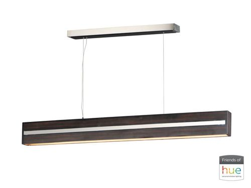 """iWood 3.5"""" x 5.5"""" x 59.75"""" Wenge / Polished Chrome Friends of Hue with 1 Light - (Stainless Steel material)"""