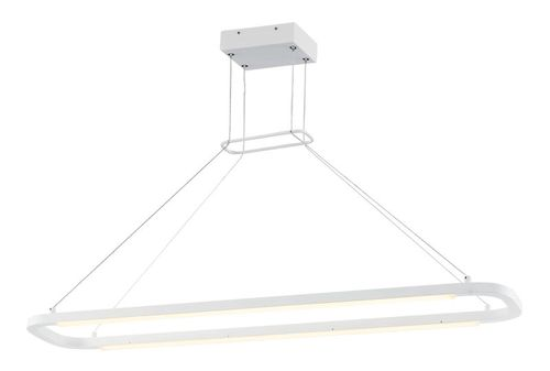"""Jibe 9.5"""" Wide 2 Light Linear Pendant using PCB Integrated LED Bulbs in Matte White"""