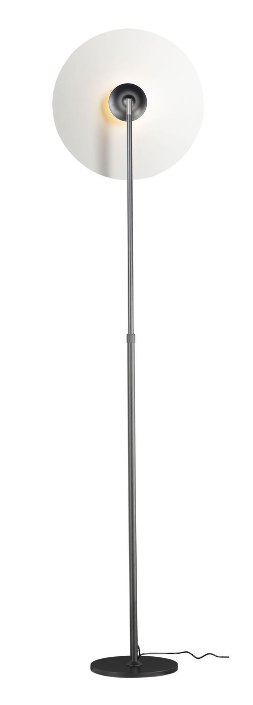"Radar 16.5"" 1-Light Floor Lamp - White / Black"