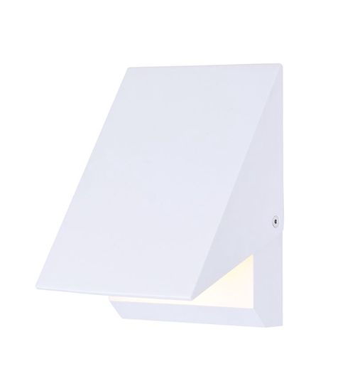 """Alumilux Sconce 5"""" Single Light Outdoor Wall Mount Light in White"""