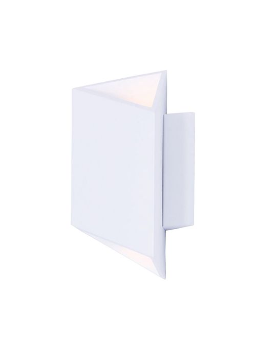 """Alumilux Sconce 7"""" 2 Light Outdoor Wall Mount Light in White"""