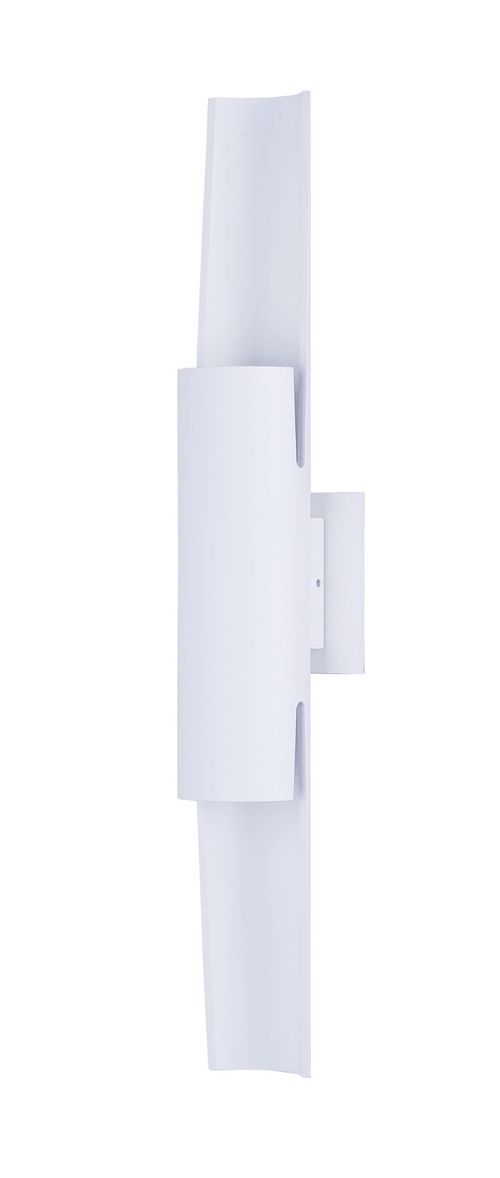 """Alumilux Sconce 4.25"""" 2-Light Outdoor Wall Mount - White"""