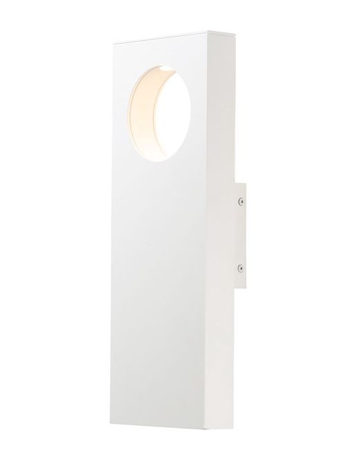 """Alumilux Sconce 5.75"""" 2-Light Outdoor Wall Mount - White"""