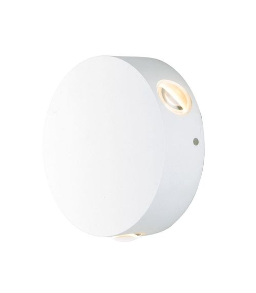 """Alumilux Sconce 4.75"""" 3 Light Outdoor Wall Mount Light in White"""
