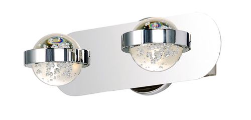 """Cosmo 13"""" 2 Light Vanity Lighting in Polished Chrome"""