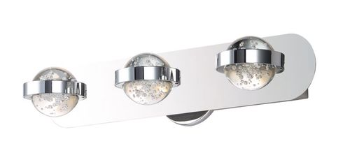 """Cosmo 20.25"""" 3 Light Vanity Lighting in Polished Chrome"""