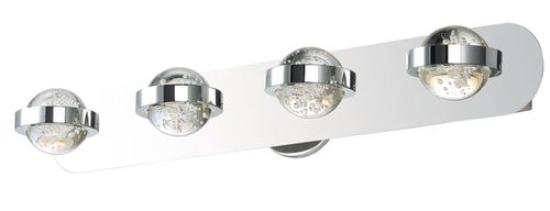 """Cosmo 28"""" 4 Light Vanity Lighting in Polished Chrome"""