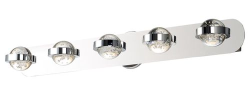 """Cosmo 35.75"""" 5 Light Vanity Lighting in Polished Chrome"""