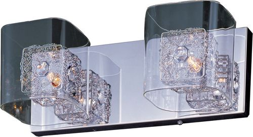 """Gem 14.5"""" 2 Light Vanity Lighting in Polished Chrome and Silver"""
