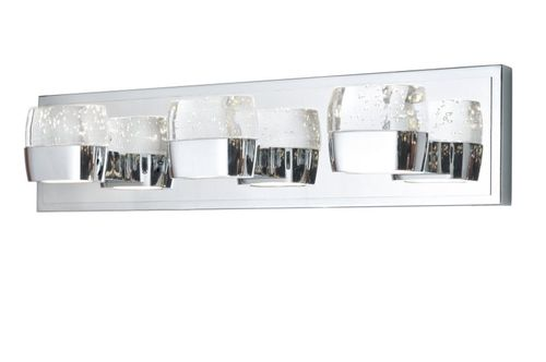 """Volt 21"""" Polished Chrome Vanity Lighting with AC Integrated LED"""