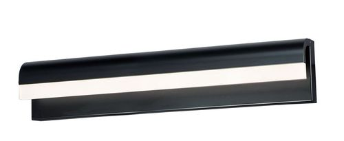 """Waterfall 24"""" Black Vanity Lighting with PCB Integrated LED"""