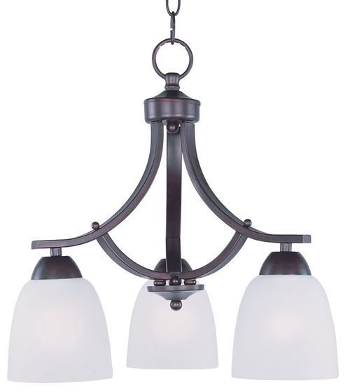"""Axis 18"""" 3-Light Down Light Chandelier - Oil Rubbed Bronze"""