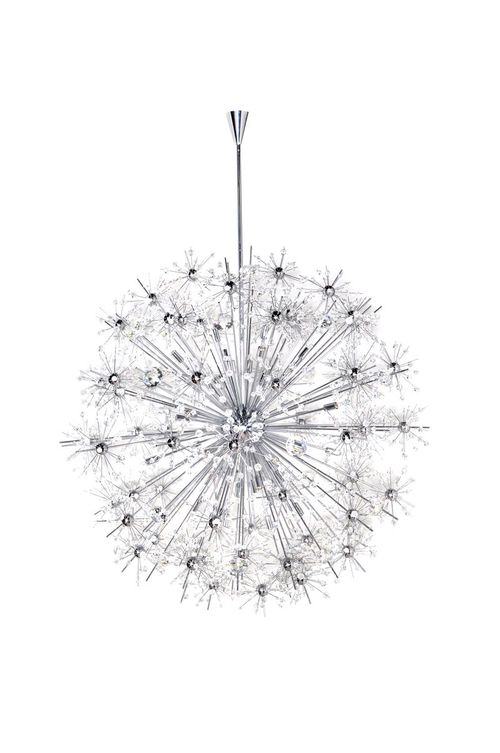 "Starfire 44"" 40-Light Single-Tier Chandelier - Polished Chrome"
