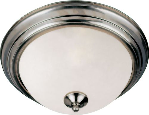 """Essentials - 584x 13.5"""" 2 Light Flush Mount in Satin Nickel with Frosted Glass Finish"""