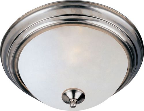 """Essentials - 584x 11.5"""" Single Light Flush Mount in Satin Nickel with Frosted Glass Finish"""