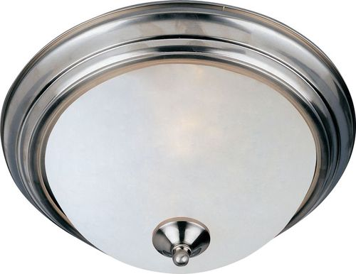 """Essentials - 584x 15.5"""" 3 Light Flush Mount in Satin Nickel with Frosted Glass Finish"""