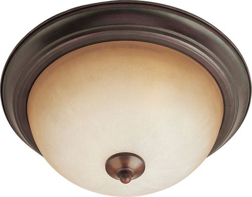 """Essentials - 584x 15.5"""" 3 Light Flush Mount in Oil Rubbed Bronze with Wilshire Glass Finish"""