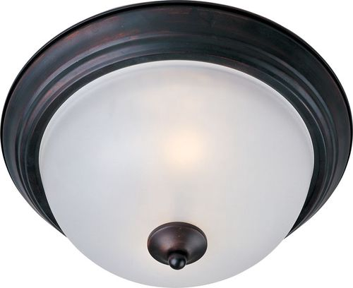 """Essentials - 584x 11.5"""" Single Light Flush Mount in Oil Rubbed Bronze with Frosted Glass Finish"""