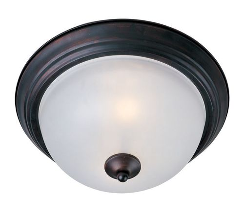 """Essentials - 584x 11.5"""" 2 Light Flush Mount in Oil Rubbed Bronze with Frosted Glass Finish"""